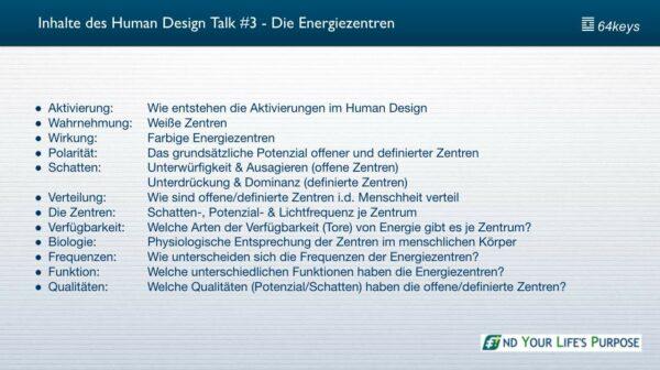 Die 9 Human Design Energiezentren - Inhalte